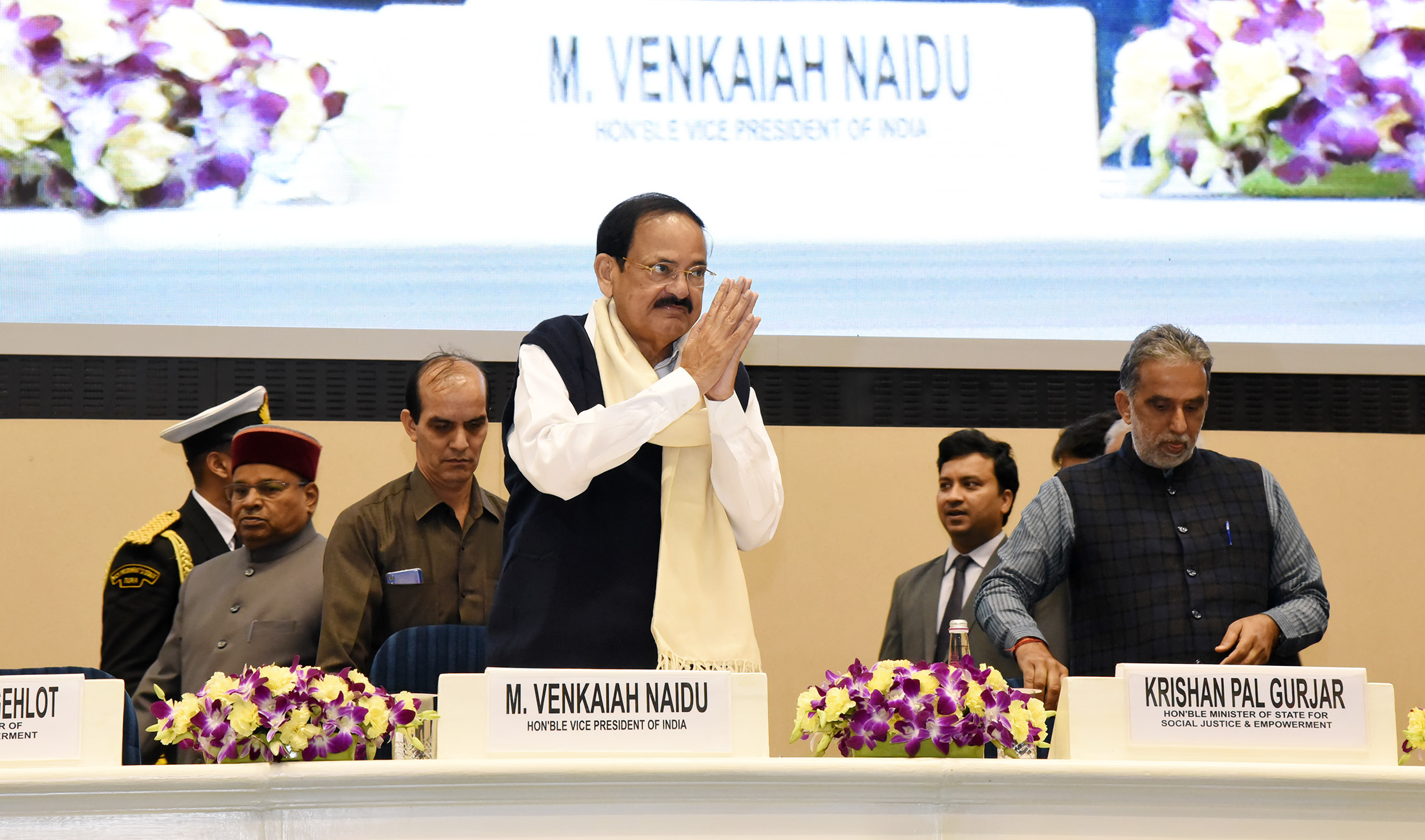 The Vice President, Shri M. Venkaiah Naidu, at the National Awards for the Empowerment of Persons with Disabilities, in New Delhi on December 3, 2019.