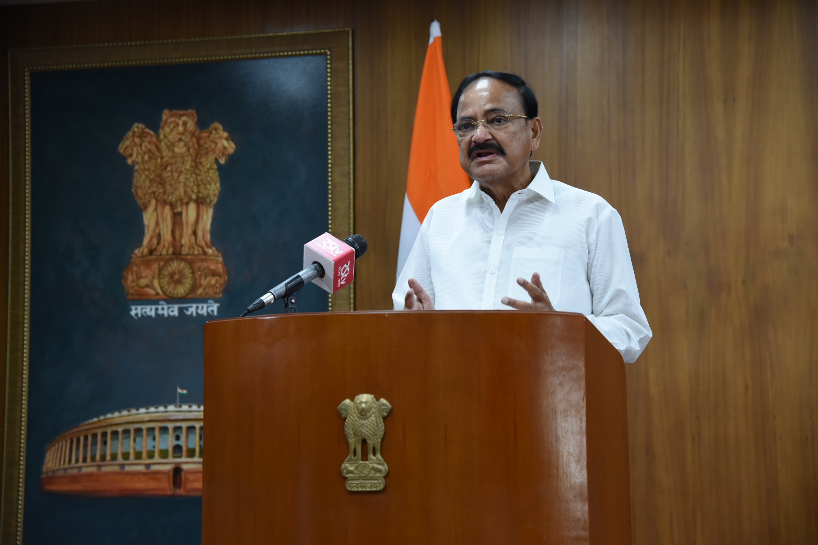 The Vice President, Shri M. Venkaiah Naidu addressing after virtually releasing the indigenous social media super app – Elyments in New Delhi on July 05, 2020.