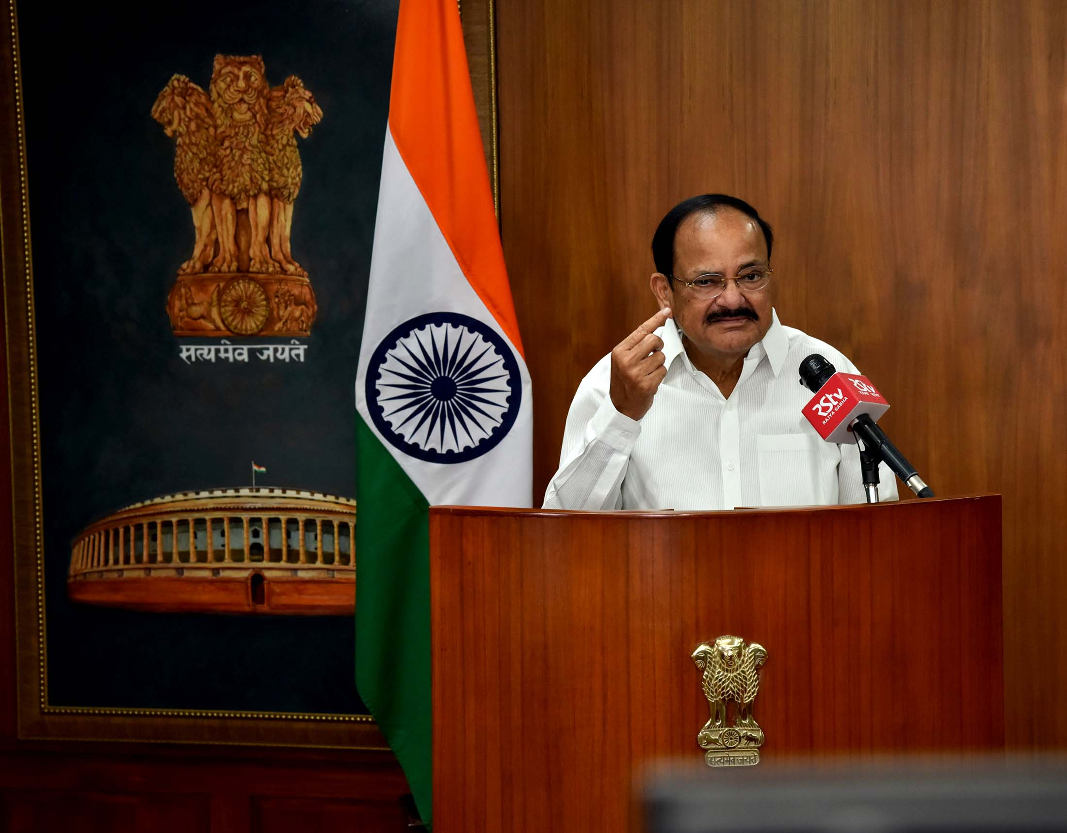 The Vice President, Shri M. Venkaiah Naidu addressing the gathering at the virtual Launch of the Heartfulness All India Essay Event 2020 in New Delhi on 11 September 2020
