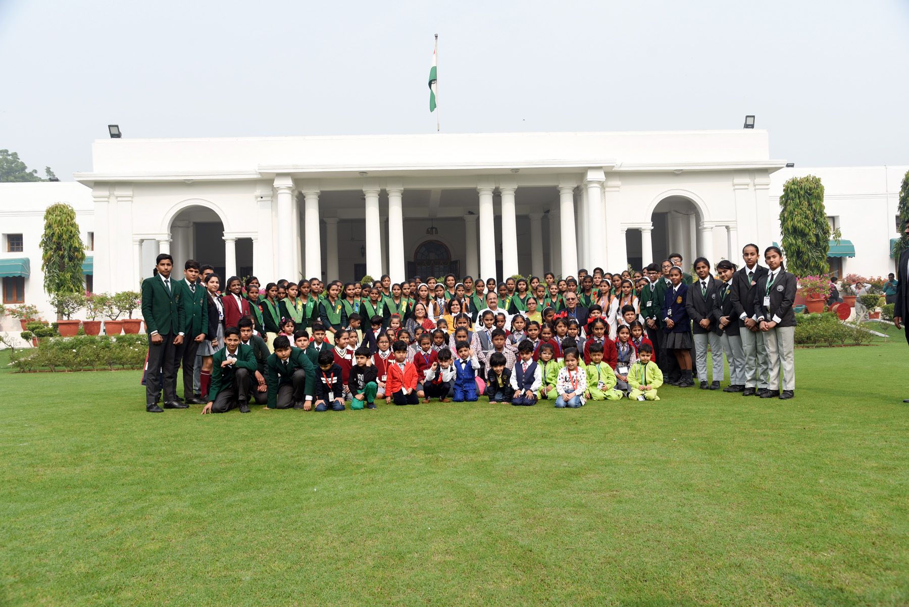 The Vice President, Shri M. Venkaiah Naidu with students from various school from across National Capital Region, Haryana, Uttar Pradesh and other Neighbouring states on the occasion of Children's Day, in New Delhi on 14 November, 2019.