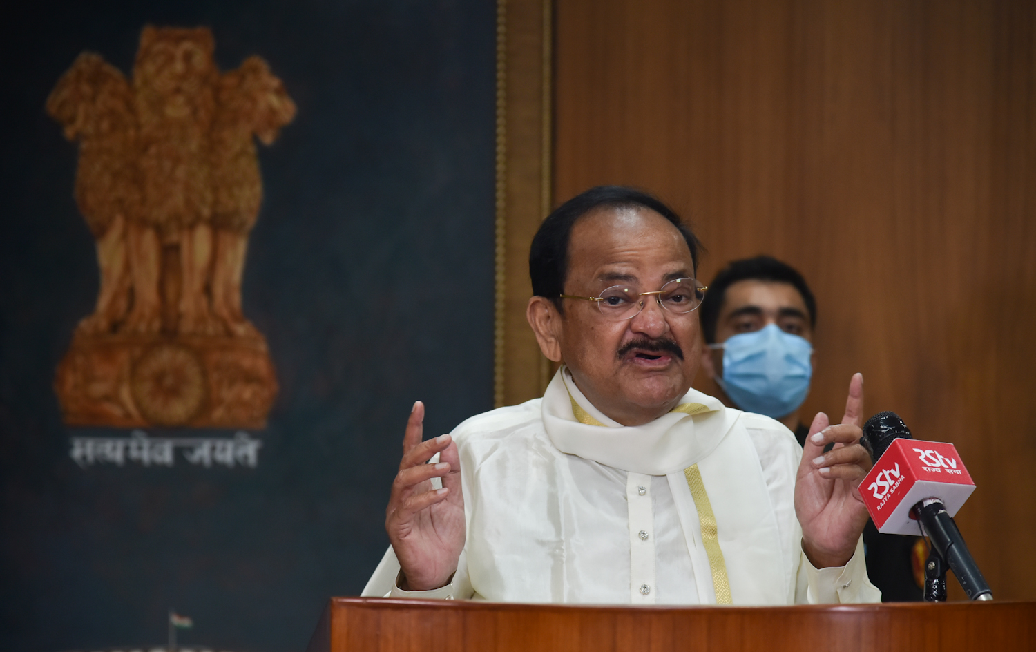The Vice President, Shri M. Venkaiah Naidu addressing at the virtual launch of the 24th 'Parampara Series - National Festival of Music and Dance', organised by the Natya Tarangini in partnership with the United Nations, in New Delhi on October 27, 2020.