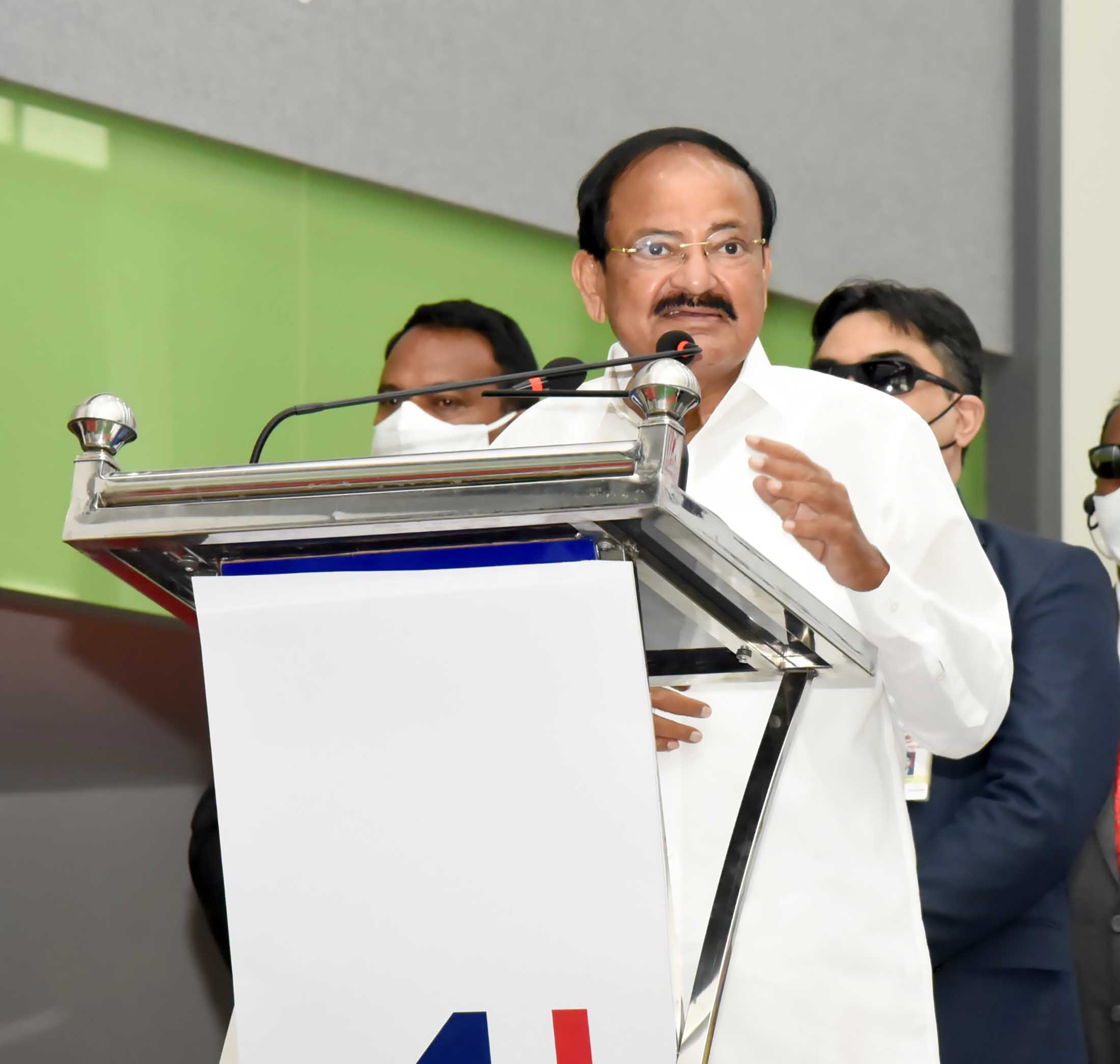 The Vice President, Shri M. Venkaiah Naidu addressing at the inauguration of the Amara Multispecialty Hospital, in Tirupati on March 04, 2021.