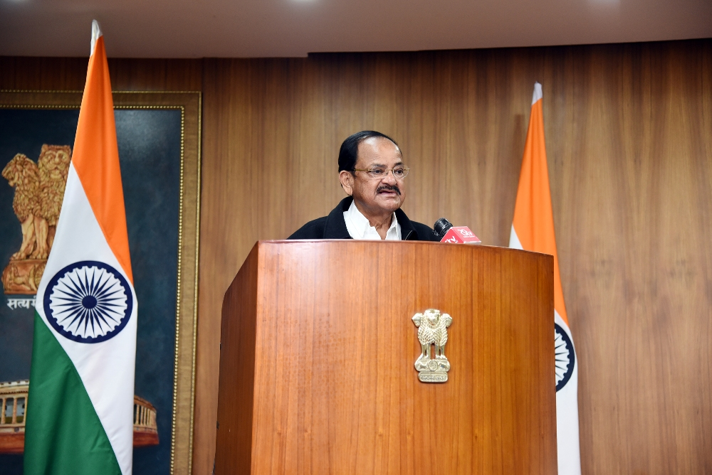 The Vice President, Shri M. Venkaiah Naidu virtually addressing the International Webinar on 'Promoting Cycling in Post-Covid World' organised by World Cycling Alliance in New Delhi on 28 November, 2020.