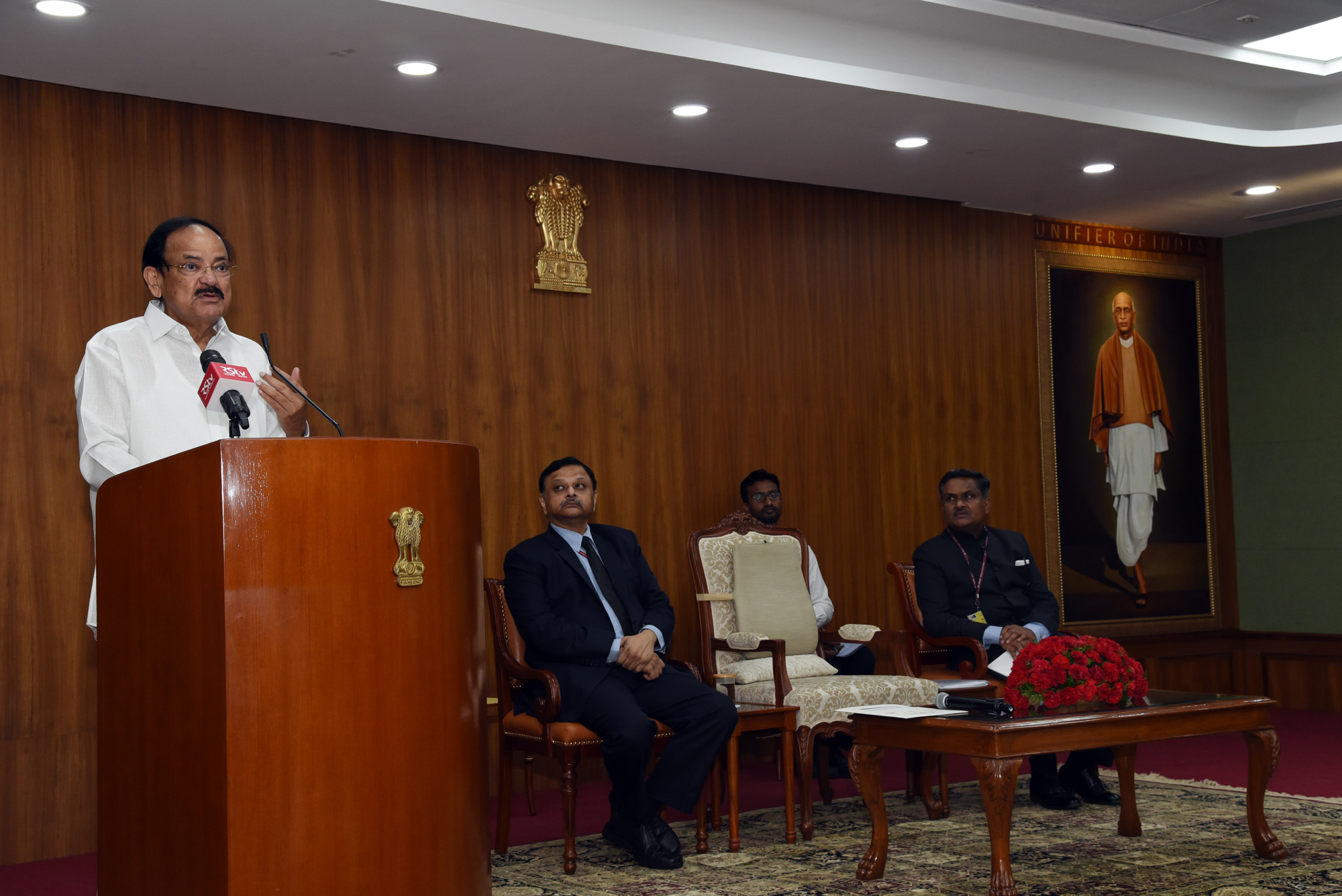The Vice President, Shri M. Venkaiah Naidu addressing the Officers of the 2017 batch of Indian Administrative Service (IAS), in New Delhi on September 12, 2019.