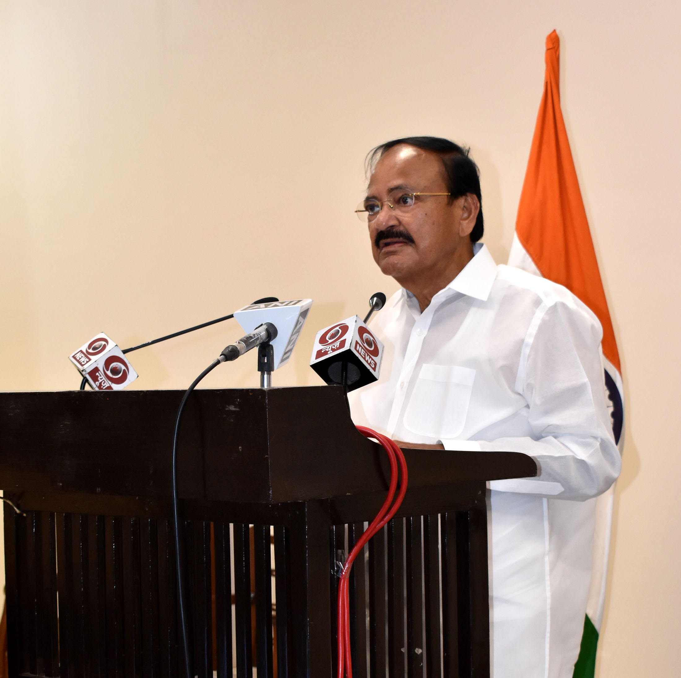The Vice President, Shri M. Venkaiah Naidu virtually addressing the Valedictory and Award Session of Global Bio India-2021 from Chennai on 03 March, 2021.