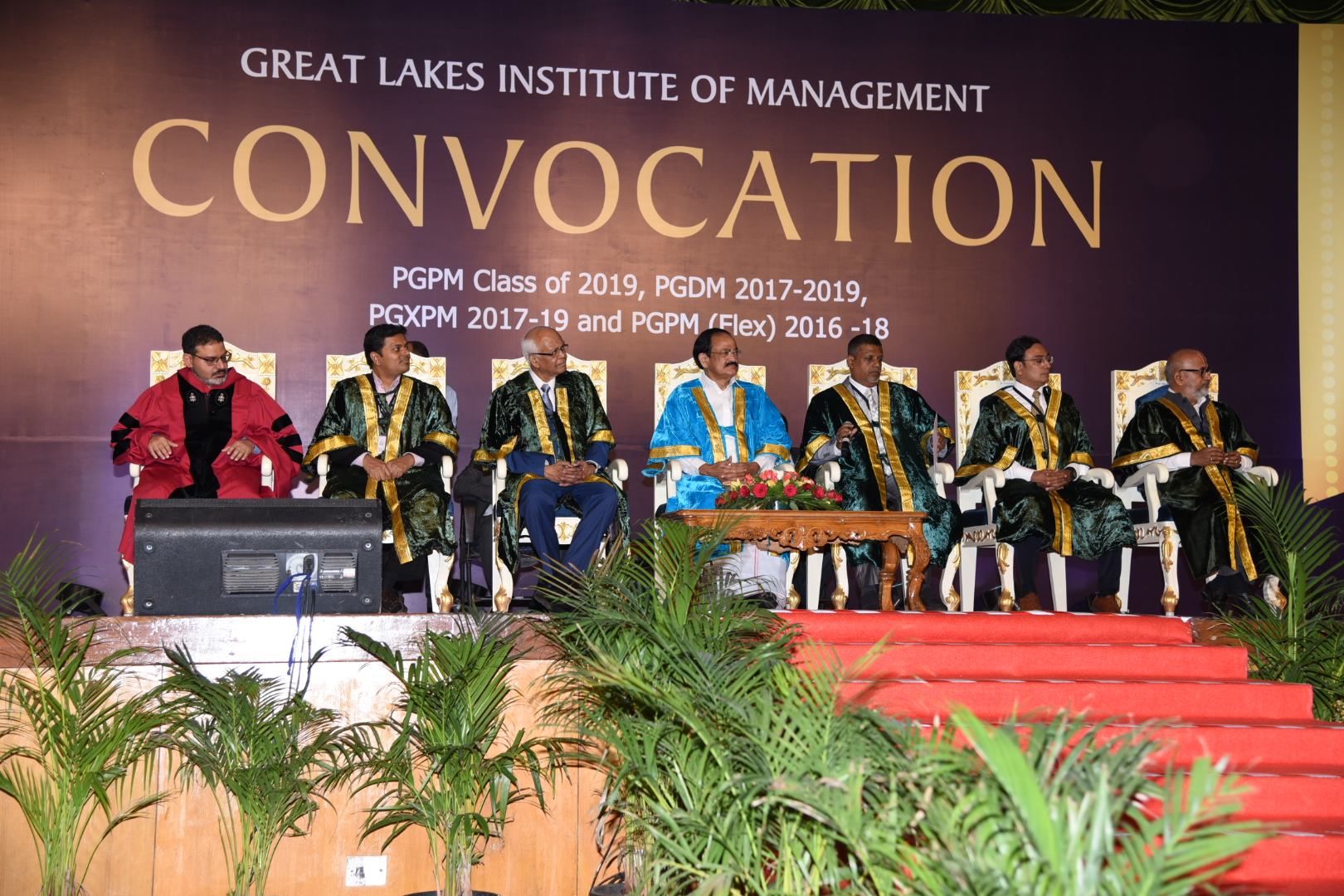 The Vice President, Shri M. Venkaiah Naidu at the Convocation of the Great Lakes Institute of Management, in Chennai on May 21, 2019.