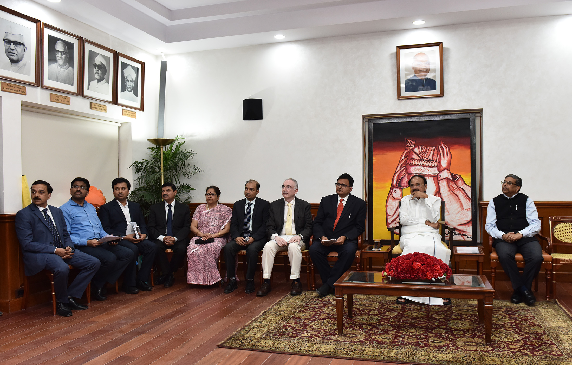 The Vice President, Shri M. Venkaiah Naidu at an event to interact with the 44th batch of Advance Professional Programme in Public Administration, sponsored by the Indian Institute of Public Administration, in New Delhi on April 15, 2019.
