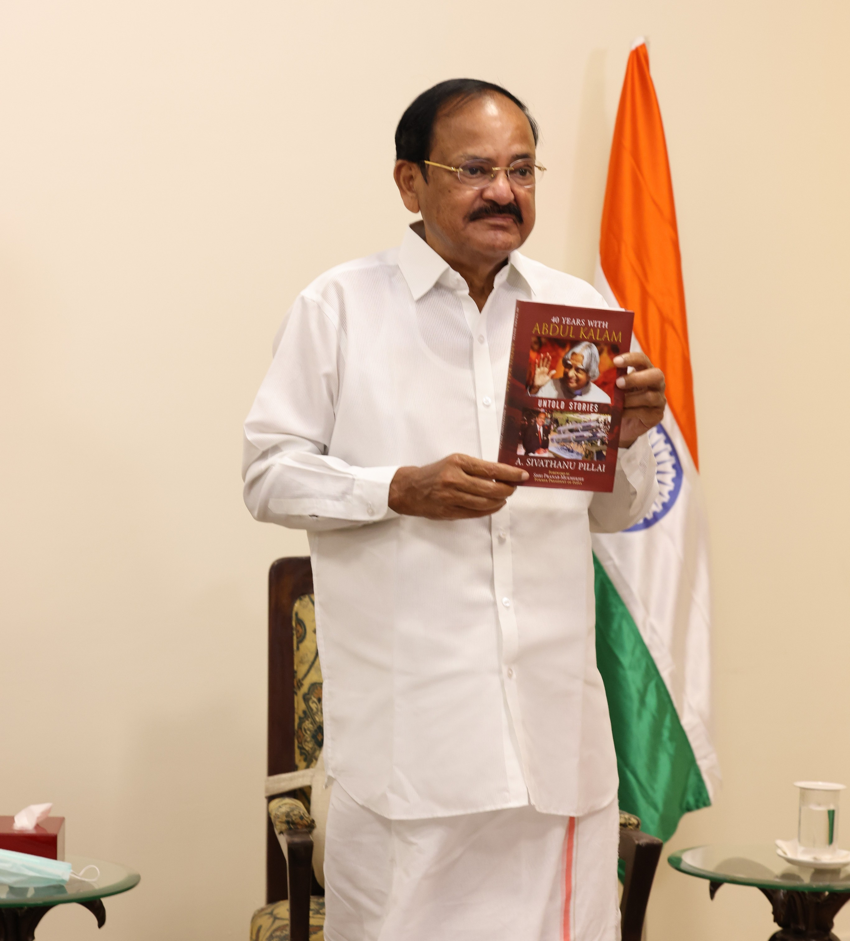 "The Vice President, Shri M. Venkaiah Naidu virtually releasing the Book, ""40 Years with Abdul Kalam - Untold Stories"", in Chennai on December 03, 2020."