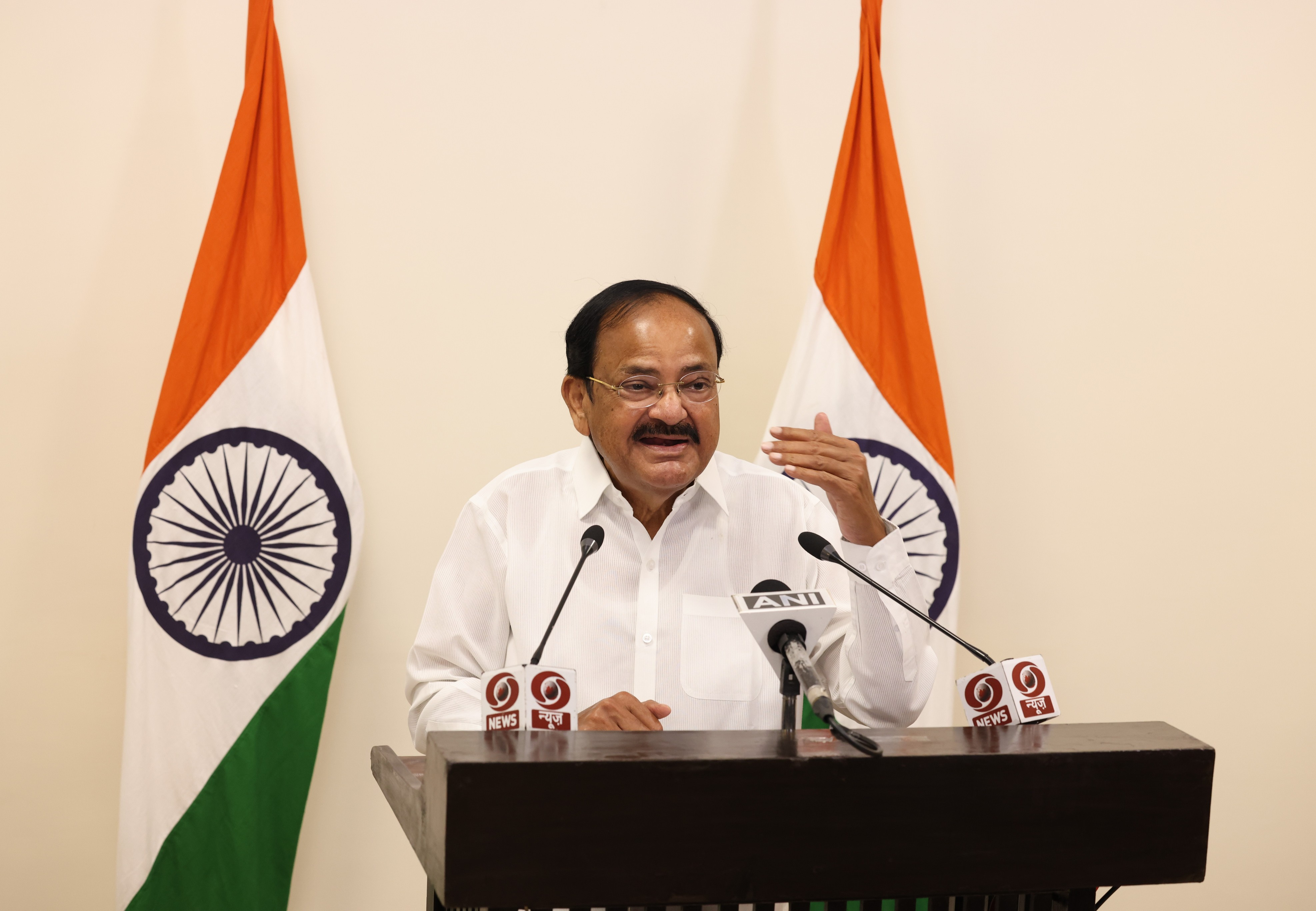 "The Vice President, Shri M. Venkaiah Naidu virtually addressing at the release of the Book, ""40 Years with Abdul Kalam- Untold Stories"" in Chennai on December 03, 2020."