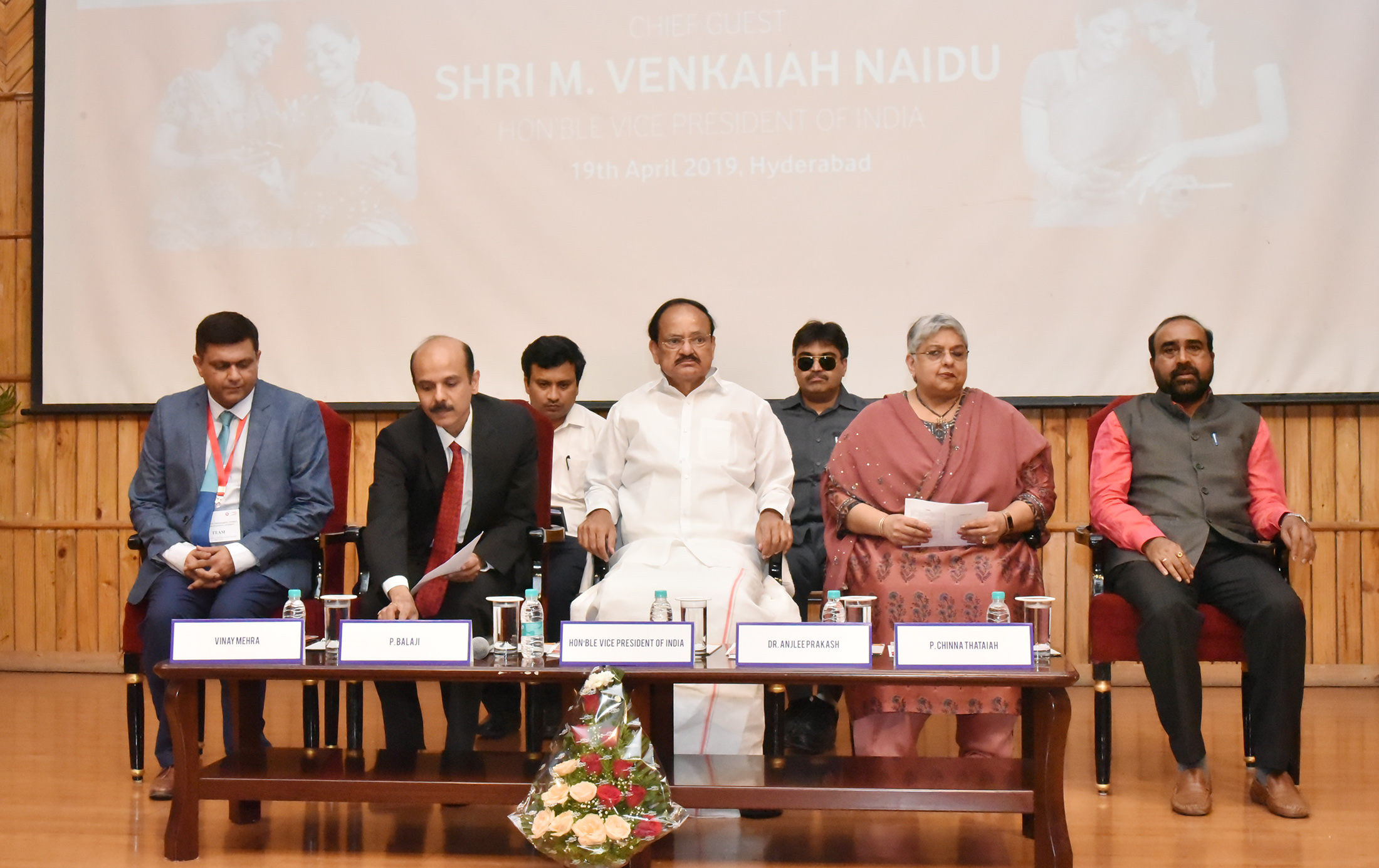 The Vice President, Shri M. Venkaiah Naidu at the National Conclave on Women's Empowerment Through Financial Literacy, organized by the Learning Links Foundation, in Hyderabad on April 19, 2019.