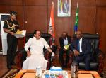 The Vice President, Shri M. Venkaiah Naidu at a tête-à-tête with Mr. Abdou Ousseni, President of the National Assembly of the Union of Comoros in Moroni on October 11, 2019.