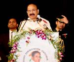 The Vice President, Shri M. Venkaiah Naidu addressing the gathering at the inauguration of the Birth Centenary Celebrations of Dr. Marri Channa Reddy in Hyderabad, on December 29, 2019.