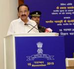 The Vice President of India,  Shri M. Venkaiah Naidu addressing the gathering at an event organized by Press Council of India on the occasion of National Press Day, in New Delhi on 16 November, 2019.