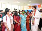 The Vice President, Shri M. Venkaiah Naidu during an interaction with a group of achievers in Agartala on October 6, 2021.