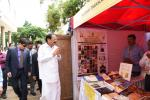 The Vice President of India Shri. M Venkaiah Naidu visiting the exhibition displaying materials on activities of the Central Institute of Indian languages in Mysuru, Karnataka, on 13th July 2019.