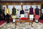 """The Vice President, Shri M. Venkaiah Naidu at an event to release the book titled """"The Vision of Antyodaya"""" compiled by Indian Social Responsibility Network, in New Delhi, on 12 February, 2020."""