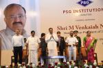 The Vice President, Shri M. Venkaiah Naidu at an interaction with the students of PSG Institutions, in Coimbatore, Tamil Nadu on February 21, 2020.