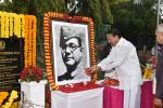 The Vice President, Shri M. Venkaiah Naidu paying tributes to Netaji Subhash Chandra Bose on his 123rd Birth Anniversary, at Raj Bhawan, in Chennai, on 23 January, 2020.