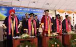 The Vice President, Shri M. Venkaiah Naidu at the 28th Annual Convocation of Pondicherry University in Puducherry on February 26, 2020.