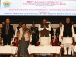 The Vice President, Shri M Venkaiah Naidu at the inauguration of 102nd Annual Conference of Indian Economic Association, in Raipur on 27 December, 2019. The Governor of Chhattisgarh, Sushri Anusuiya Uikey and Chief Minister, Shri Bhupesh Baghel are also seen.