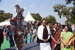 The Vice President, Shri M. Venkaiah Naidu and Smt. Usha Naidu visiting the Hunar Haat, at India Gate Lawns, Rajpath, in New Delhi on February 20, 2020.