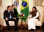 The Vice President of India, Shri M Venkaiah Naidu called on the President of Brazil, Mr. Jair Messias Bolsonaro, in New Delhi, on 25 January, 2020.