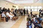 The Vice President, Shri M. Venkaiah Naidu interacting with the students from village schools after inaugurating the residential skilling center of Deshpande Foundation, in Hubbali, Karnataka, on 02 February, 2020