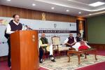 """The Vice President, Shri M. Venkaiah Naidu addressing the gathering after releasing the book titled """"The Vision of Antyodaya"""" compiled by Indian Social Responsibility Network, in New Delhi, on 12 February, 2020."""