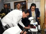 The Vice President, Shri M. Venkaiah Naidu visiting various laboratories and facilities at the Centre for Cellular & Molecular Biology (CCMB) in Hyderabad, on January 27, 2020.