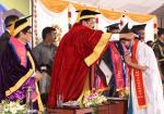 The Vice President, Shri M. Venkaiah Naidu presenting degrees and diplomas to graduating students at the 28th Annual Convocation of Pondicherry University in Puducherry on February 26, 2020.