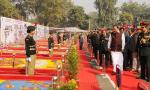 The Vice President of India, Shri M. Venkaiah Naidu inspecting the Flag Area during the inauguration of the NCC Republic Day Camp 2018 in New Delhi on January 06, 2018.