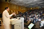 The Vice President, Shri M. Venkaiah Naidu addressing the first annual conference on 'Indian Democracy at Work' organised by the Foundation for Democratic Reforms, Bharat Institute of Public Policy and the University of Hyderabad, at Indian School of business in Hyderabad, on 9 January, 2019.