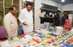 The Vice President, Shri M. Venkaiah Naidu visiting bookstalls after inaugurating the 21st North East Book Fair, in Guwahati on 01 November, 2019.