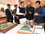 The Vice President of India, Shri M. Venkaiah Naidu visiting the various models of sewage treatment plants developed with the support of Administrative Staff College of India (ASCI), during his visit to ASCI, in Hyderabad on 07 March, 2020.