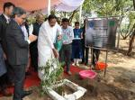 "The Vice President, Shri M. Venkaiah Naidu planting a sapling after inaugurating the 15th International Conference on ""Metal Ions & Organic Pollutants in Biology, Medicine and Environment (Metal Ions 2019)""at CSIR-NEERI in Nagpur on October 30, 2019."