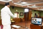 The Vice President, Shri M. Venkaiah Naidu virtually unveiling the statue of Sardar Vallabhbhai Patel at Indian Institute of Public Administration library during the 66th Annual Meeting of General Body of IIPA at Upa-Rashtrapati Nivas on 31 October, 2020.