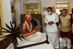 The Vice President, Shri M. Venkaiah Naidu visiting the Saifee Villa, in Dandi, Gujarat on April 06, 2021. The Chief Minister of Gujarat, Shri Vijay Rupani is also seen.