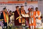 The Vice President, Shri M. Venkaiah Naidu awarding degrees to the students during the first convocation of NIT, Tadepalligudem, Andhra Pradesh on 24 December, 2019.