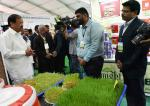 The Vice president visiting Agri Tech South 2020 - the 2nd Edition of Exhibition and Conference on Agri-technology & Innovation at Prof. Jayashankar Telangana State Agriculture University, in Hyderabad, on 22 February, 2020.
