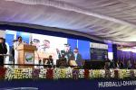The Vice President addressing the gathering after inaugurating the Hubbali-Dharwad Bus Rapid Transit (BRT) project, in Hubbali, Karnataka, on 02 February, 2020.