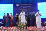 The Vice President, Shri M. Venkaiah Naidu during the dedication of a 1.5 MW solar power plant to the nation at Jawaharlal Institute of Postgraduate Medical Education and Research in Puducherry on September 12, 2021.