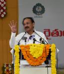 The Vice President, Shri M. Venkaiah Naidu addressing the gathering at an interactive meet of Farmers and Scientists, organised by Acharya NG Ranga Agricultural University, in Vijayawada, Andhra Pradesh on March 15, 2019.