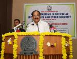 The Vice President, Shri M. Venkaiah Naidu addressing the gathering at a two-day Seminar on 'New Paradigms in Artificial Intelligence and Cyber Security', organized by the C.R. Rao Advanced Institute of Mathematics, Statistics and Computer Science, in Hyderabad on June 06, 2019.