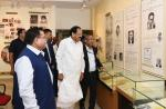 The Vice President, Shri M. Venkaiah Naidu visiting the Gallery on Dr. C.R. Rao at the C.R. Rao Advanced Institute of Mathematics, Statistics and Computer Science, in Hyderabad on June 06, 2019.