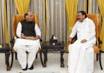 The Union Minister for Defence, Shri Rajnath Singh calling on the Vice President, Shri M. Venkaiah Naidu, in New Delhi on August 15, 2019.