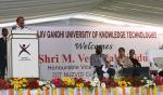 The Vice President of India, Shri M. Venkaiah Naidu addressing the gathering at the Rajiv Gandhi University of Knowledge Technologies, in Nuzvid, Andhra Pradesh on March 14, 2019.