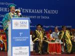 The Vice President, Shri M. Venkaiah Naidu addressing the first convocation of SRM University, Delhi-NCR, Sonepat, in New Delhi on October 22, 2019.