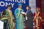 The Vice President, Shri M. Venkaiah Naidu presenting Degrees to the Students at the first convocation of SRM University, Delhi-NCR, Sonepat, in New Delhi on October 22, 2019.