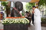The Vice President, Shri M. Venkaiah Naidu paying homage at the Bust of Mahatma Gandhi, in the premises of the Embassy of India, in Hanoi, Vietnam on May 11, 2019.