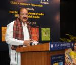 The Vice President, Shri M. Venkaiah Naidu addressing the gathering after inaugurating the IILM University Gurugram Campus from IILM Lodhi Road Campus, in New Delhi on April 20, 2018.